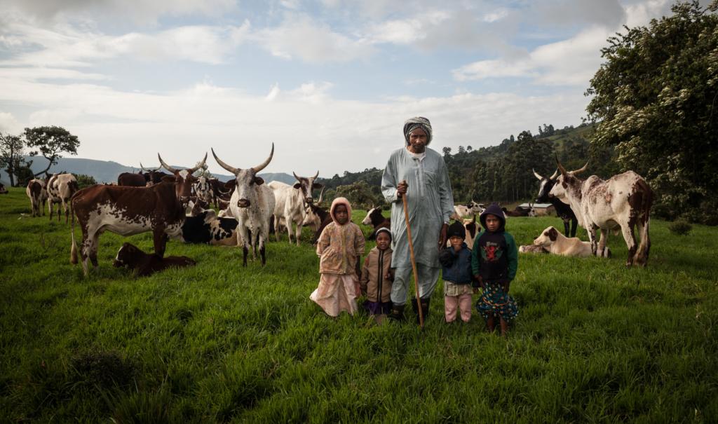 Famille peuhl au Cameroun
