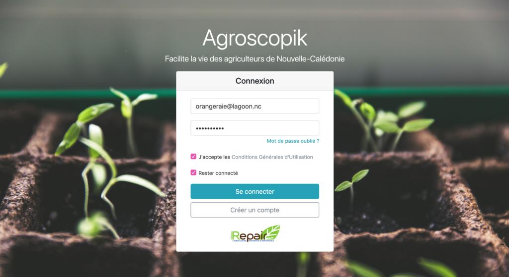 Page d'accueil Agroscopik